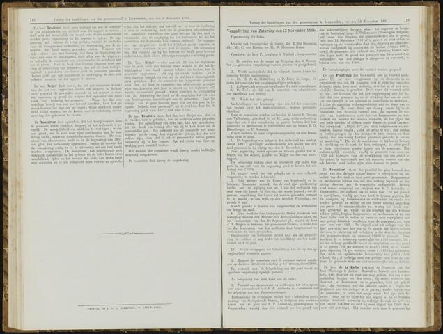 Raadsverslagen van de gemeente Leeuwarden, 1865-2007 (Notulen) 1886-11-13