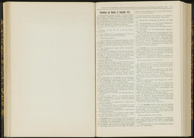 Raadsverslagen van de gemeente Leeuwarden, 1865-2007 (Notulen) 1923-09-25