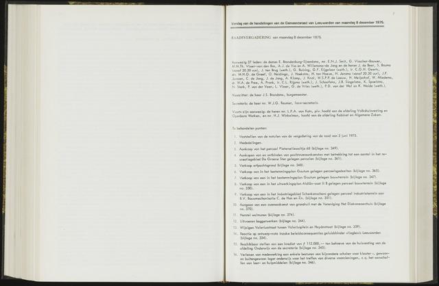 Raadsverslagen van de gemeente Leeuwarden, 1865-2007 (Notulen) 1975-12-08