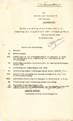 raadsverslagen Idaarderadeel 1935-1983 1938-10-10
