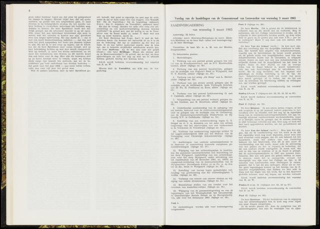 Raadsverslagen van de gemeente Leeuwarden, 1865-2007 (Notulen) 1965-03-03