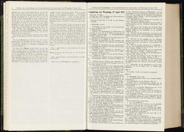Raadsverslagen van de gemeente Leeuwarden, 1865-2007 (Notulen) 1951-04-25