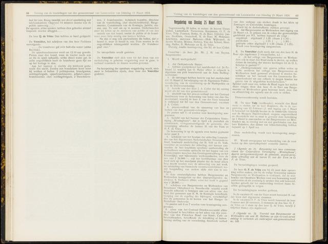 Raadsverslagen van de gemeente Leeuwarden, 1865-2007 (Notulen) 1924-03-25