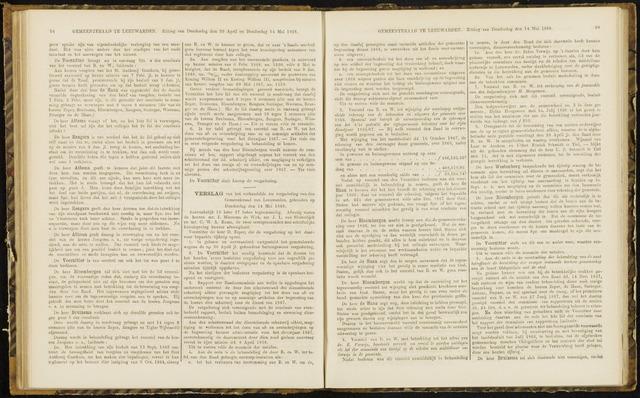 Raadsverslagen van de gemeente Leeuwarden, 1865-2007 (Notulen) 1868-05-14