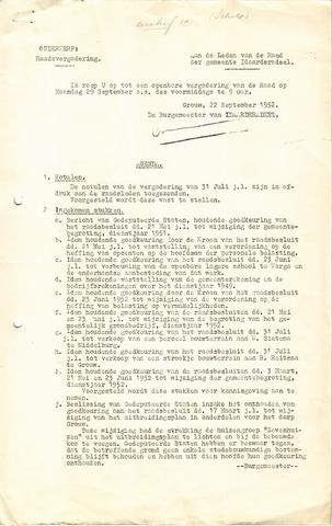 raadsverslagen Idaarderadeel 1935-1983 1952-09-29