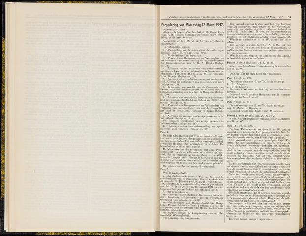 Raadsverslagen van de gemeente Leeuwarden, 1865-2007 (Notulen) 1947-03-12