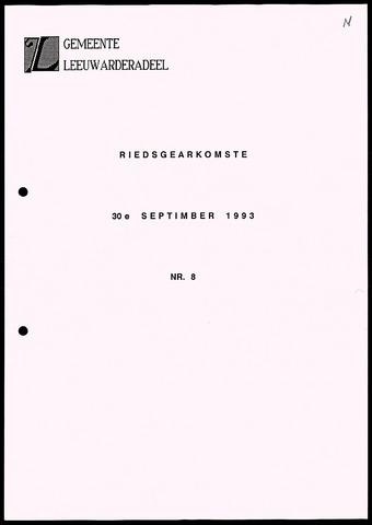 Notulen van de gemeenteraad van Leeuwarderadeel 1993-09-30