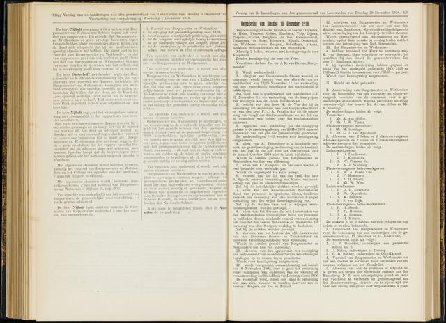 Raadsverslagen van de gemeente Leeuwarden, 1865-2007 (Notulen) 1918-12-10