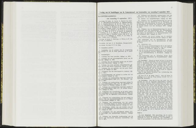 Raadsverslagen van de gemeente Leeuwarden, 1865-2007 (Notulen) 1971-09-06