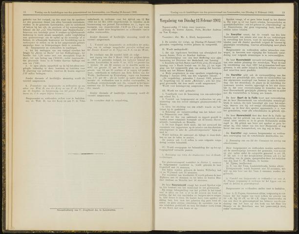 Raadsverslagen van de gemeente Leeuwarden, 1865-2007 (Notulen) 1902-02-11