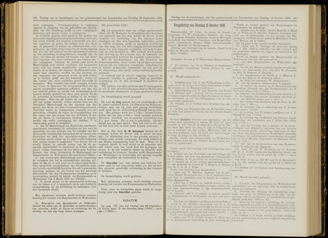 Raadsverslagen van de gemeente Leeuwarden, 1865-2007 (Notulen) 1908-10-13