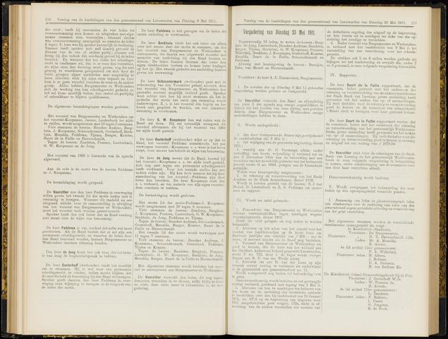 Raadsverslagen van de gemeente Leeuwarden, 1865-2007 (Notulen) 1911-05-23