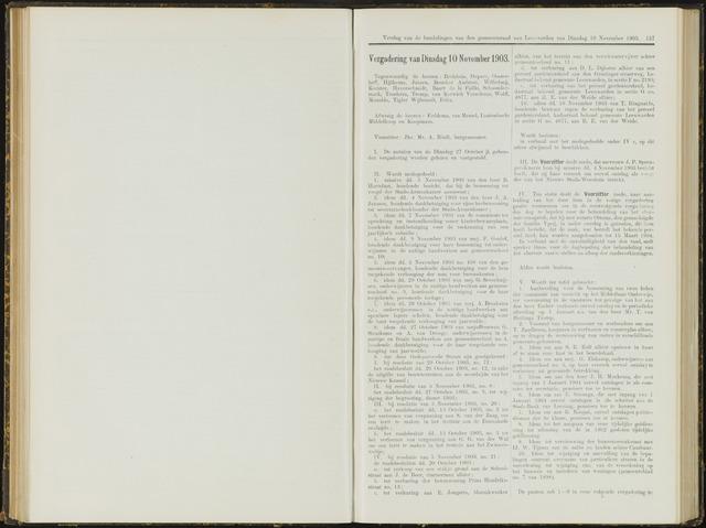 Raadsverslagen van de gemeente Leeuwarden, 1865-2007 (Notulen) 1903-11-10