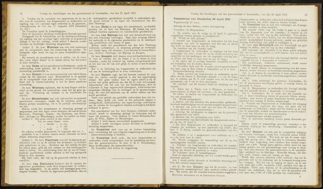 Raadsverslagen van de gemeente Leeuwarden, 1865-2007 (Notulen) 1881-04-28