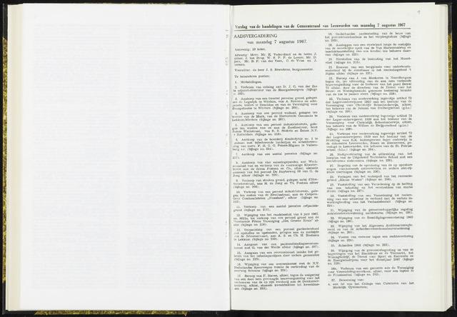 Raadsverslagen van de gemeente Leeuwarden, 1865-2007 (Notulen) 1967-08-07