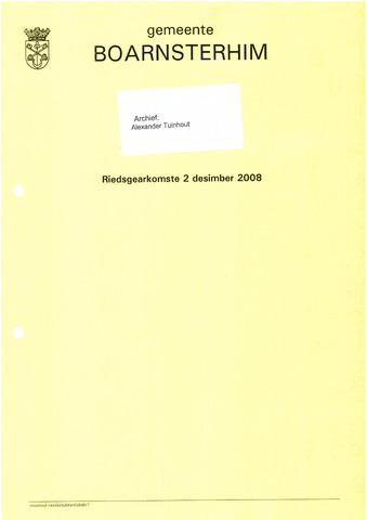 Boarnsterhim vergaderstukken gemeenteraad  2008-12-02