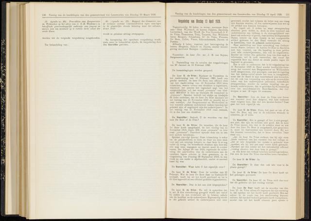 Raadsverslagen van de gemeente Leeuwarden, 1865-2007 (Notulen) 1920-04-13
