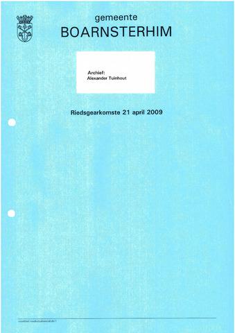 Boarnsterhim vergaderstukken gemeenteraad  2009-04-21