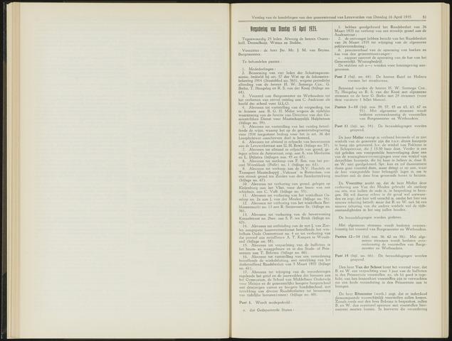Raadsverslagen van de gemeente Leeuwarden, 1865-2007 (Notulen) 1935-04-16