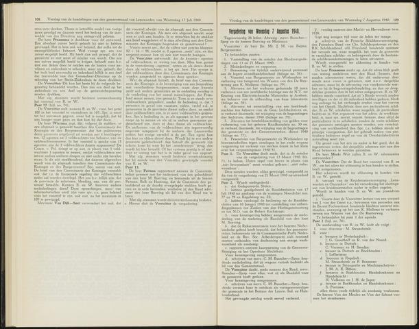 Raadsverslagen van de gemeente Leeuwarden, 1865-2007 (Notulen) 1940-08-07
