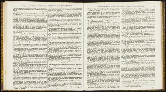 Raadsverslagen van de gemeente Leeuwarden, 1865-2007 (Notulen) 1879-04-15