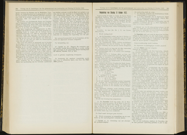 Raadsverslagen van de gemeente Leeuwarden, 1865-2007 (Notulen) 1922-10-31