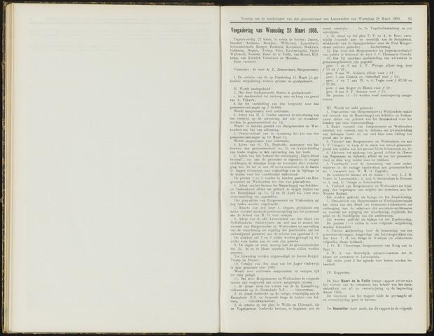 Raadsverslagen van de gemeente Leeuwarden, 1865-2007 (Notulen) 1906-03-28