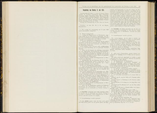 Raadsverslagen van de gemeente Leeuwarden, 1865-2007 (Notulen) 1924-07-15
