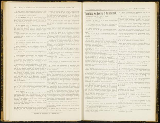 Raadsverslagen van de gemeente Leeuwarden, 1865-2007 (Notulen) 1897-11-13