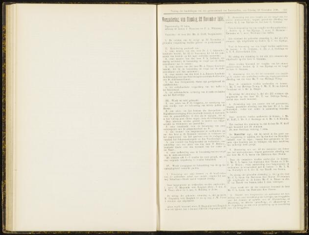 Raadsverslagen van de gemeente Leeuwarden, 1865-2007 (Notulen) 1898-11-22