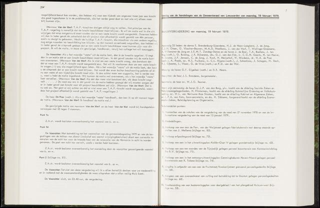 Raadsverslagen van de gemeente Leeuwarden, 1865-2007 (Notulen) 1979-02-19