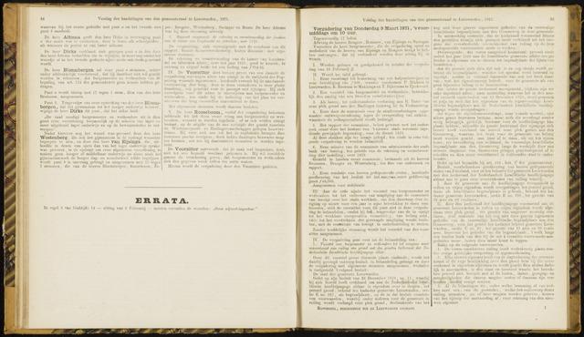 Raadsverslagen van de gemeente Leeuwarden, 1865-2007 (Notulen) 1871-03-09