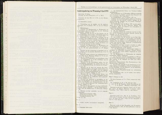 Raadsverslagen van de gemeente Leeuwarden, 1865-2007 (Notulen) 1951-04-04