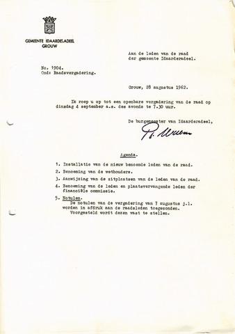 raadsverslagen Idaarderadeel 1935-1983 1962-09-04