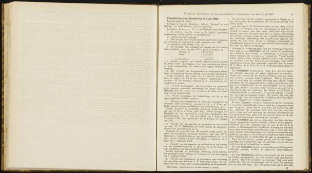 Raadsverslagen van de gemeente Leeuwarden, 1865-2007 (Notulen) 1880-07-08