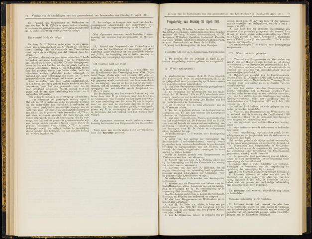 Raadsverslagen van de gemeente Leeuwarden, 1865-2007 (Notulen) 1911-04-25