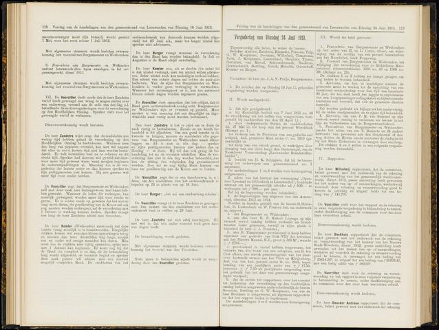 Raadsverslagen van de gemeente Leeuwarden, 1865-2007 (Notulen) 1913-06-24