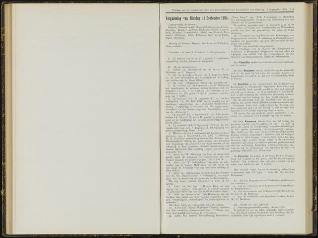 Raadsverslagen van de gemeente Leeuwarden, 1865-2007 (Notulen) 1904-09-13