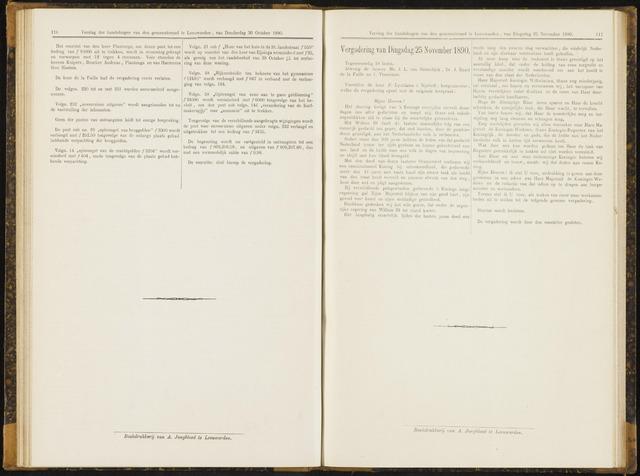 Raadsverslagen van de gemeente Leeuwarden, 1865-2007 (Notulen) 1890-11-25
