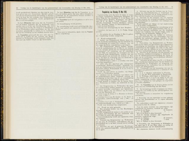 Raadsverslagen van de gemeente Leeuwarden, 1865-2007 (Notulen) 1915-05-25