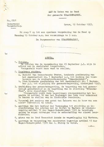 raadsverslagen Idaarderadeel 1935-1983 1953-10-19