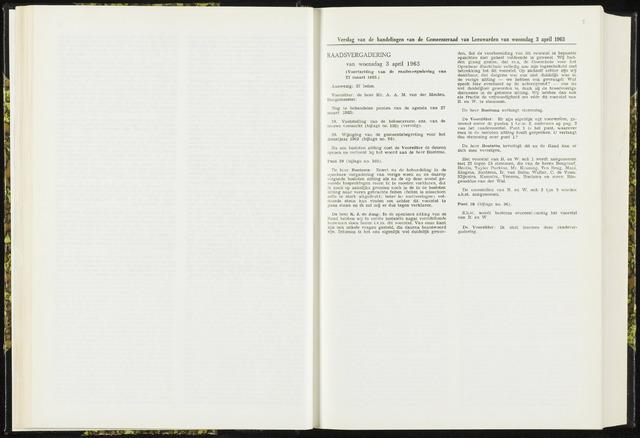 Raadsverslagen van de gemeente Leeuwarden, 1865-2007 (Notulen) 1963-04-03