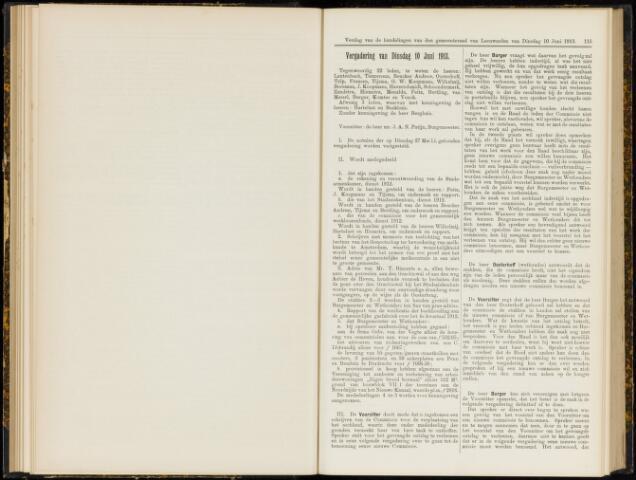 Raadsverslagen van de gemeente Leeuwarden, 1865-2007 (Notulen) 1913-06-10