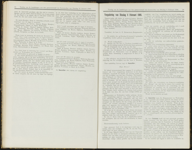 Raadsverslagen van de gemeente Leeuwarden, 1865-2007 (Notulen) 1906-02-06