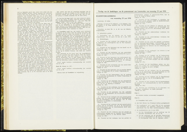Raadsverslagen van de gemeente Leeuwarden, 1865-2007 (Notulen) 1958-06-25