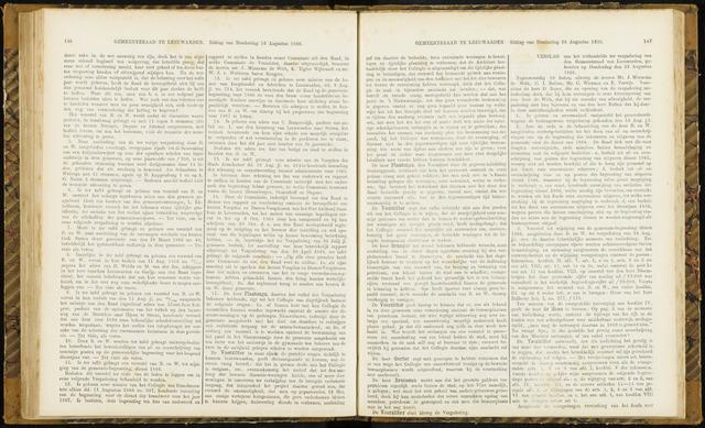 Raadsverslagen van de gemeente Leeuwarden, 1865-2007 (Notulen) 1866-08-23