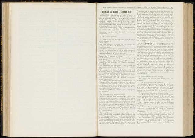 Raadsverslagen van de gemeente Leeuwarden, 1865-2007 (Notulen) 1925-12-07