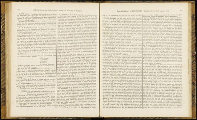 Raadsverslagen van de gemeente Leeuwarden, 1865-2007 (Notulen) 1866-08-09