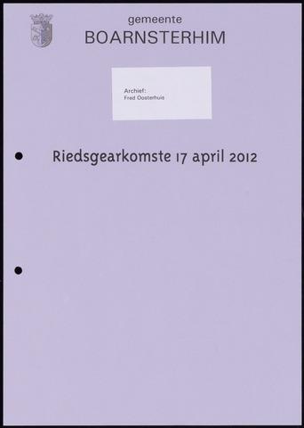 Boarnsterhim vergaderstukken gemeenteraad  2012-04-17
