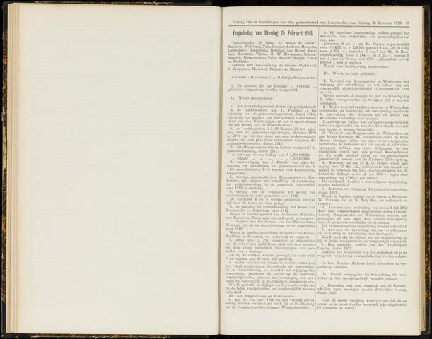 Raadsverslagen van de gemeente Leeuwarden, 1865-2007 (Notulen) 1913-02-25